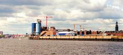 scan_2a-2001 Blick über die Elbe zum Strandkaiund die Gebäude des HEW Kraftwerks am Strandkai / Magdeburger Hafen (2001)