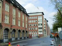 Fotos aus dem Hamburger Stadtteil Neustadt, Bezirk Hamburg Mitte; Blick in die Admiralitätsstraße, 2001.