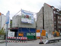 Baustelle am Goldbekkanal in Hamburg Winterhude / Dorotheenstrasse.