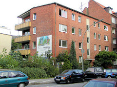 Wohnhaus, Architektur der 1960er Jahre am Goldbekkanal / Dorotheenstrasse.