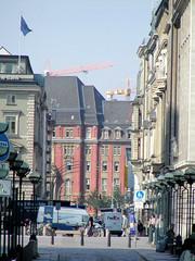Das Gebäude der ehemaligen Oberfinanzdirektion ist am  Rödingsmarkt  Hamburger Altstadt.  (2001)