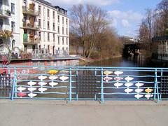Brücke über den Isebekkanal in Hamburg Eppendorf