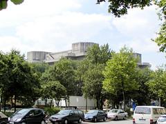 Flakbunker auf dem Heiligengeistfeld, Feldstraße in Hamburg St. Pauli.