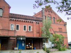 Historische Architektur vom ehem. Kraftwerk Bille in Hamburg Hammerbrook (2002).