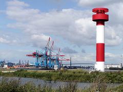 Leuchtfeuer am Köhlbrand / Süderelbe - teilweise fertig gestelltes Container Terminal Hamburg Altenwerder. (2002)