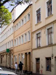 Historische Gebäude in der Lincolnstrasse auf Hamburg St. Pauli - Geburtshaus von Carl Hagenbeck, abgerissen 2004.