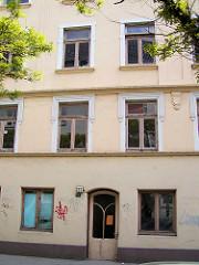 Historisches Gebäude in der Lincolnstrasse auf Hamburg St. Pauli - abgerissen 2004.
