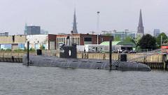 Ehem. Liegeplatz vom Museumsschiff / russisches U-Boot U-434 am Versmannkai im Hamburger Baakenhafen.