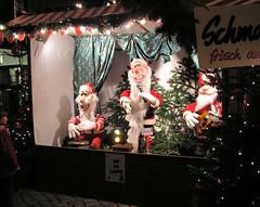 Weihnachtsmänner - Kapelle,  Weihnachtsmarkt in der Hansestadt Hamburg.