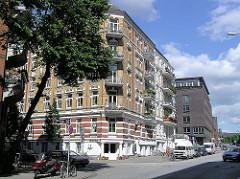 Gründerzeit Wohnblocks an der Simon von Utrecht Strasse in Hamburg St. Pauli.