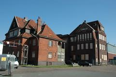 Fotos vom Hansahafen im  Hamburger Stadtteil Kleiner Grasbrook; Verwaltungsgebäude beim Hansahöft (2005).