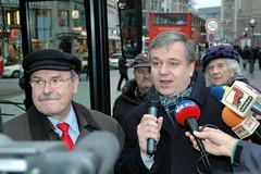 Hambuger Hochbahn Vorstandsvorsitzender Günter Elste und Senator für Stadtentwicklung und Umwelt Michael Freiytag im Interview, 2006