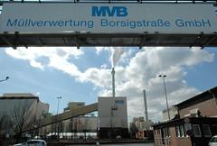Die Müllverwertungsanlage an der Borsigstrasse in Hamburg Billbrook wurde 1931 in Betrieb genommen und ersetzte die stillgelegte Anlage am Bullerdeich; Eingangsbereich der Müllverwertungsanlage Borsigstrasse GmbH.