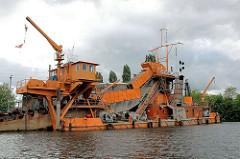 Eimerkettenbagger Heimdall im Harburger Hafen -
