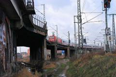 Altes Eisenbahnviadukt an der Versmannstrasse in der Hamburger Hafencity.