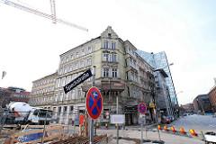Baustelle vom Brahmsquarier an der Speckstrasse in Hamburg Neustadt.