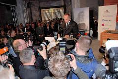 Grundsteinlegung / Baubeginn der Elbphilharmonie in der Hamburger Hafencity -  Rede vom Vorstandsvorsitzenden der Hochtief Construction AG, Henner Mahlstedt.