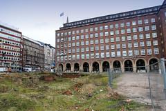 Der Domplatz und das Pressehaus in der Hamburger Altstadt.