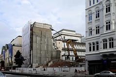 Fotos aus der Dammtorstraße in der Hamburger Neustadt - Innenstadt; Abriss / Baulücke,  07/2008.
