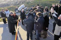 Anja Hajduk  die Grüne! Senatorin für Stadtentwicklung und Umwelt und der Parlamentarische Staatssekretär des Bundesministeriums für Verkehr, Bau und Stadtentwicklung, Ulrich Kasparick.