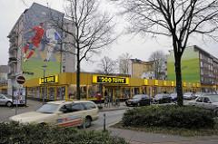 Nachkriegsarchitektur - Flachbau, Geschäft 1000 Töpfe an der Langen Reihe in Hamburg St. Georg.
