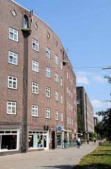 Backsteinarchitektur der 1920er Jahre auf dem Hamburger Stadtteil Veddel.