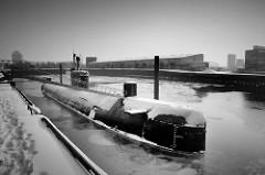 Alter Liegeplatz vom U-Bootmuseum U-434 im Baakenhafen / Versmannkai in der Hamburger Hafencity.