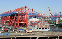 Luftaufnahme Eurogate Container Terminal Hamburg.