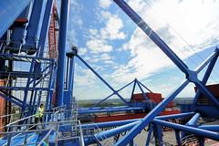 Fotos vom Hamburger Container Terminal Altenwerder; Technik der Containerbrücke Terminal Altenwerder