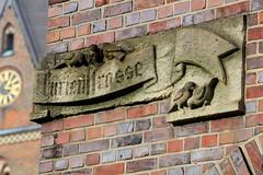 Das Pressehaus am Domplatz in der Hamburger Altstadt wurd 1938 errichtet,; Architekt Rudolf Klophaus.