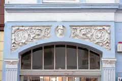 Fotos aus dem Hamburger Stadtteil St. Pauli, Bezirk Mitte; Schmuckrelief an der Hausfassade.