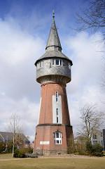 Wasserturm der Stadt Husum - erbaut 1902;  der 33m hohe Turm war bis 1961 in Betrieb.