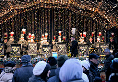 Bergmannverein-Spielmannszug Glück Auf - Auftritt auf dem Weihnachtsmarkt Erfurt.