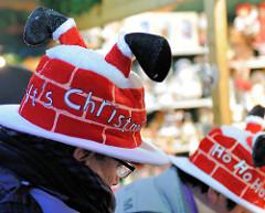 Weihnachtsmützen / Weihnachtshüte - Weihnachtsmarkt Erfurt - Its Christmas - Ho Ho Ho.
