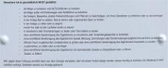 Details der Besucherordnung / Hausordnung am Eingang zu Zwinger in Dresden.