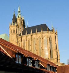 Erfurter Dom in der Morgensonne.