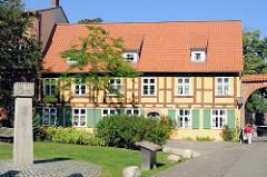 Fachwerkgebäude / historisches Wohnhaus, Johanniskloster Stralsund.