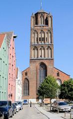 Kirchturm der St. Jacobikirche - Hansestadt Stralsund.