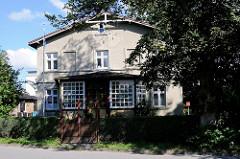 Altes Gründerzeitgebäude, Wohnhaus - Architektur, Lauterbach / Rügen.