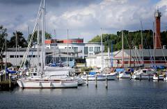 Sportboote im Hafen von Lauterbach / Rügen