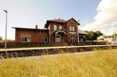 Bahnhof Lauterbach Rügen / das Gebäude steht unter Denkmalschutz; die Bahnstrecke ist 1890 eingerichtet worden.