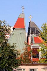 Modernes Kirchengebäude in Breslau - Wroclaw - Architekturfotografie.