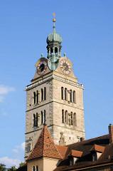 Kirchturm St. Emmeram in Regensburg, größte vorromanischer Kirchenbau Süddeutschlands - Gründungsbau um 780.