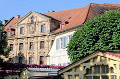 Unterschiedliche Architektur / Architekturstile - Hausfassaden in der Stadt Bamberg.