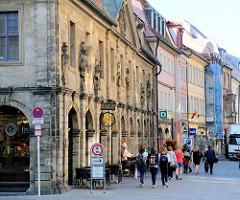 Ehem. Hauptwache Bamberg - 1774 erbaut, Architekt J. E. Roppelt - zweigeschossiges Gebäude aus Sandstein im Barockstil.