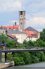 Blick zur evangelischen Erlöserkirche in Bamberg - fertiggestellt 1933, Architekt German Bestelmeyer.