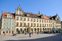 Mittelblock - historische Bebauung in der Altstadt von Wroclaw / Breslau (Polen) am Marktplatz, Grosser Ring - Rynek.