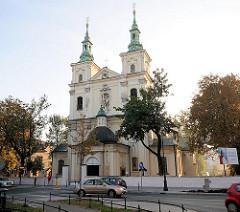 St. Florianskirche in Krakau / Kraków - 1184 wurde eine Reliquie des Hl. Florian nach Krakau überführt - in der Kirche wird ein Silberreliquar mit dem Unterarm und der rechten Hand des Heiligen gezeigt.