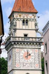Rathausturm mit Uhr - Altes Rathaus Passau.