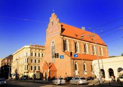 Historische Architektur in Wroclaw - Breslau; Gotik Baustil - St. Dorotheenkirche.